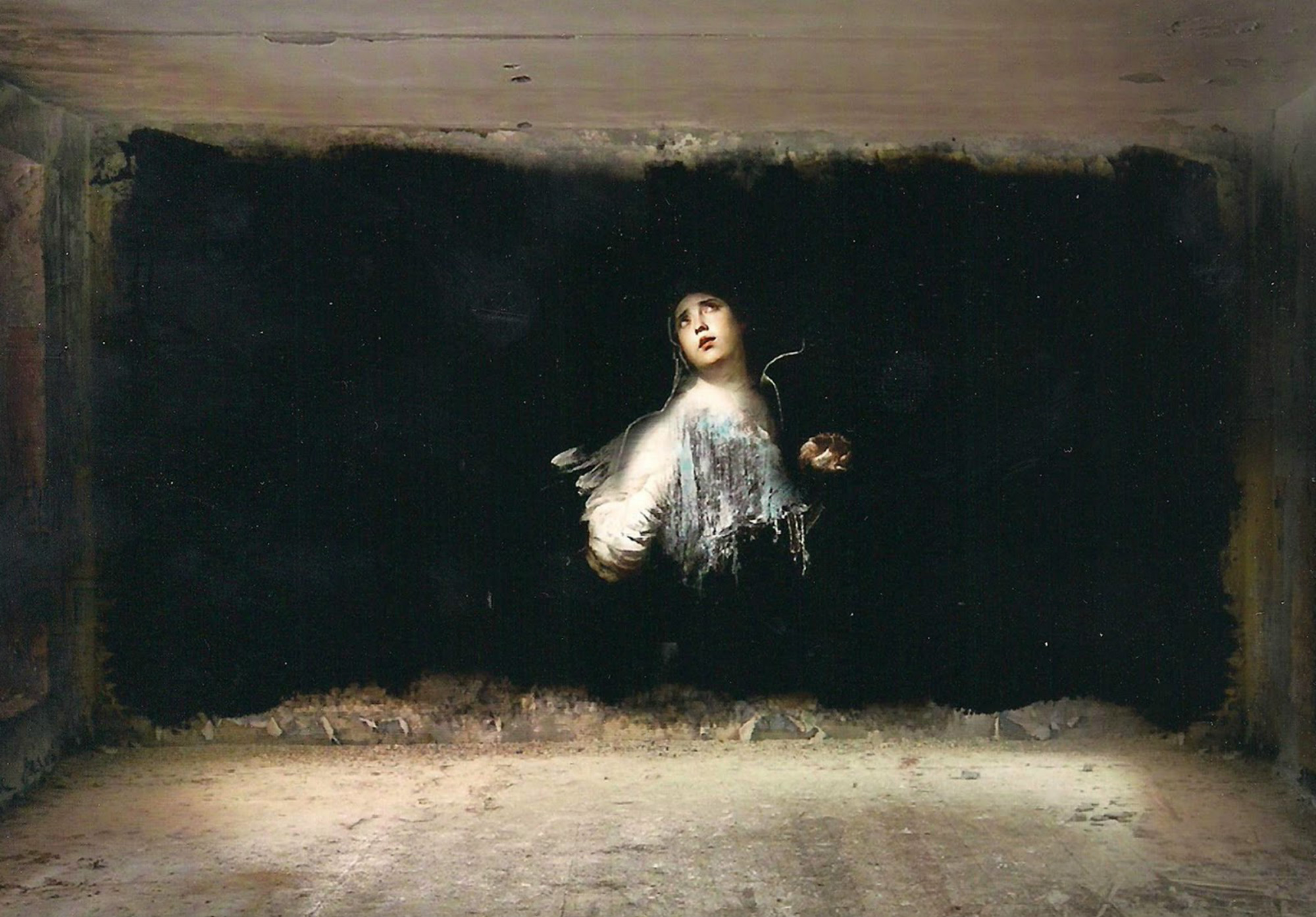 Hail Mary: Street Artist Transforms Derelict Buildings