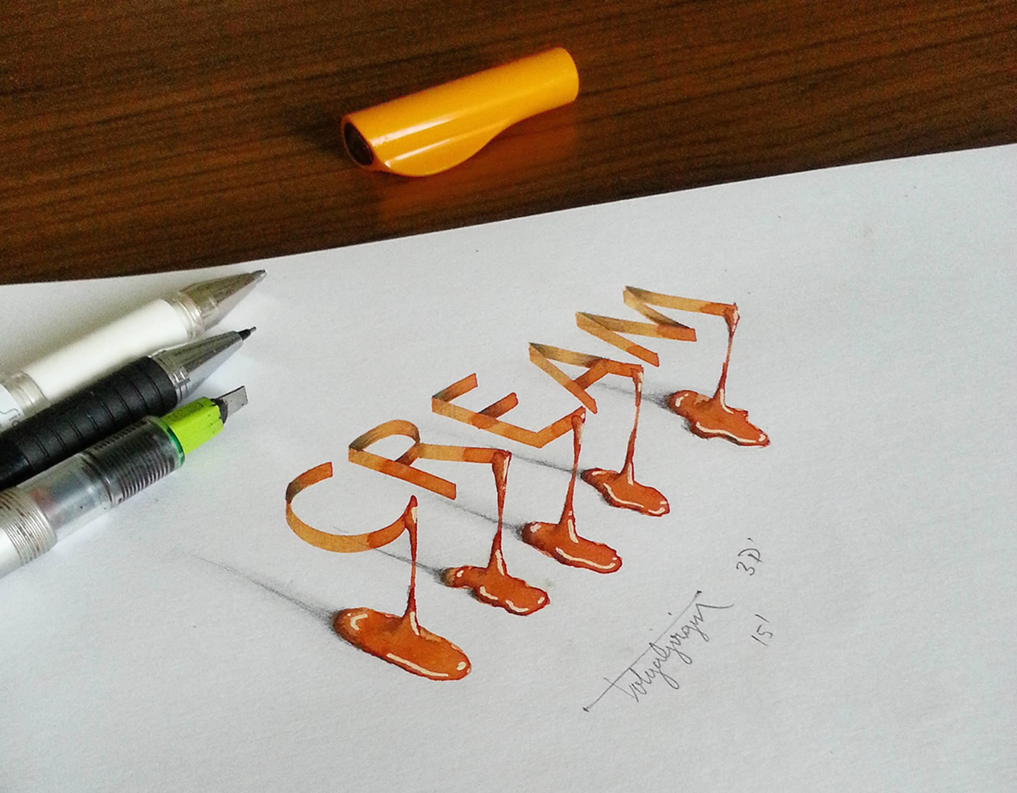 3D Illusion Lettering by Tolga Girgin