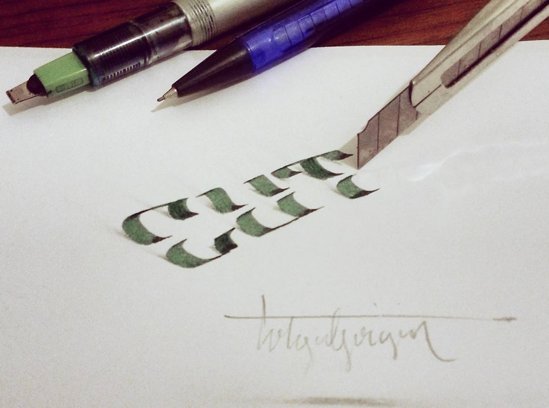 cutout letters, 3d