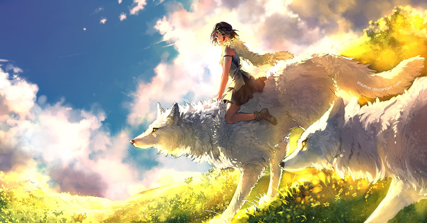 girl and wolf anime tale