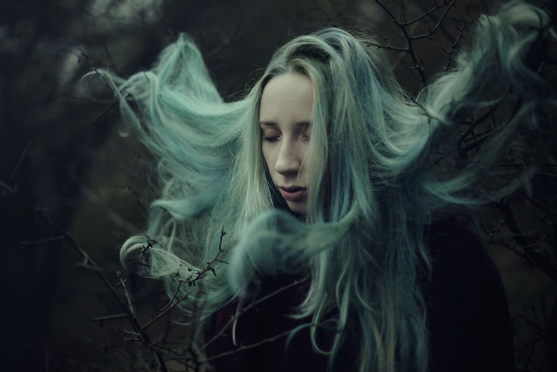 andrea peipe photography magic model nature green hair