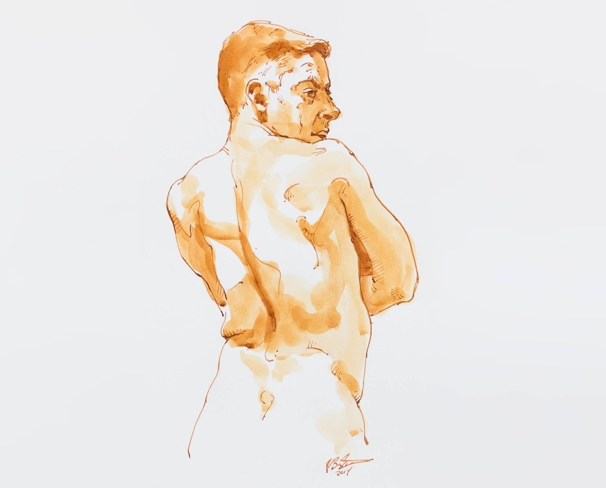 Mark Stephenson's Watercolor Nudes