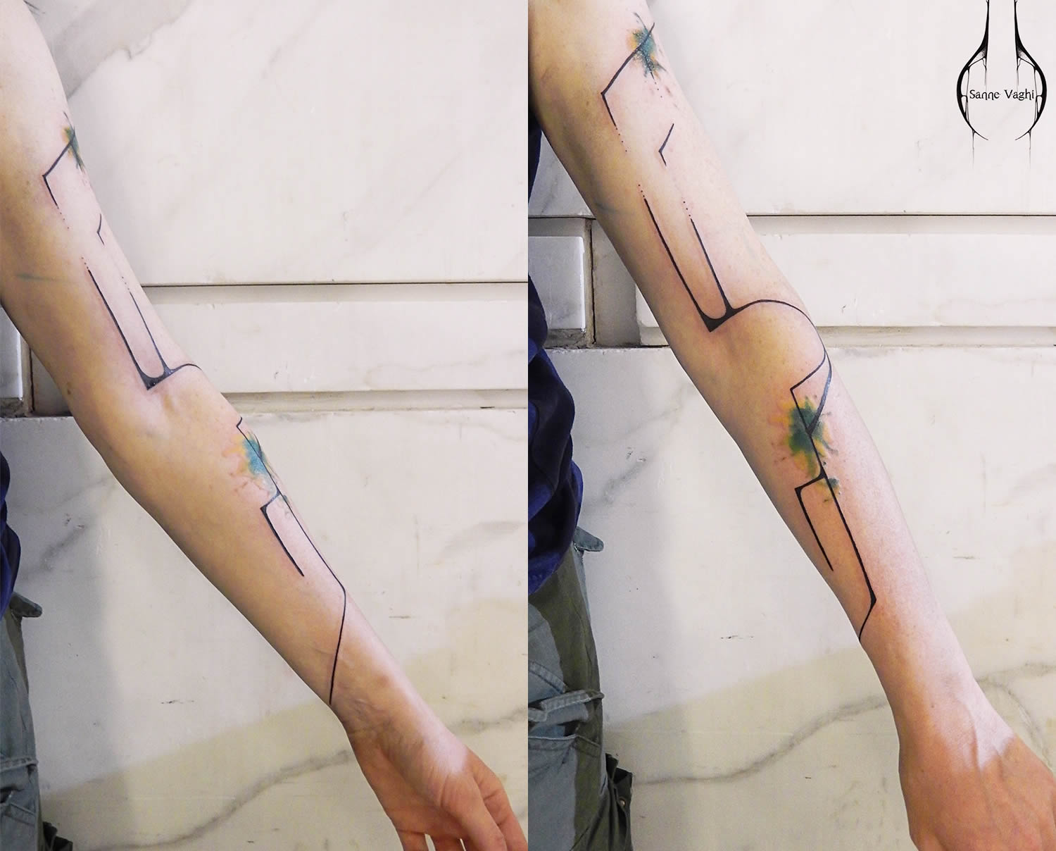 line art tattoo