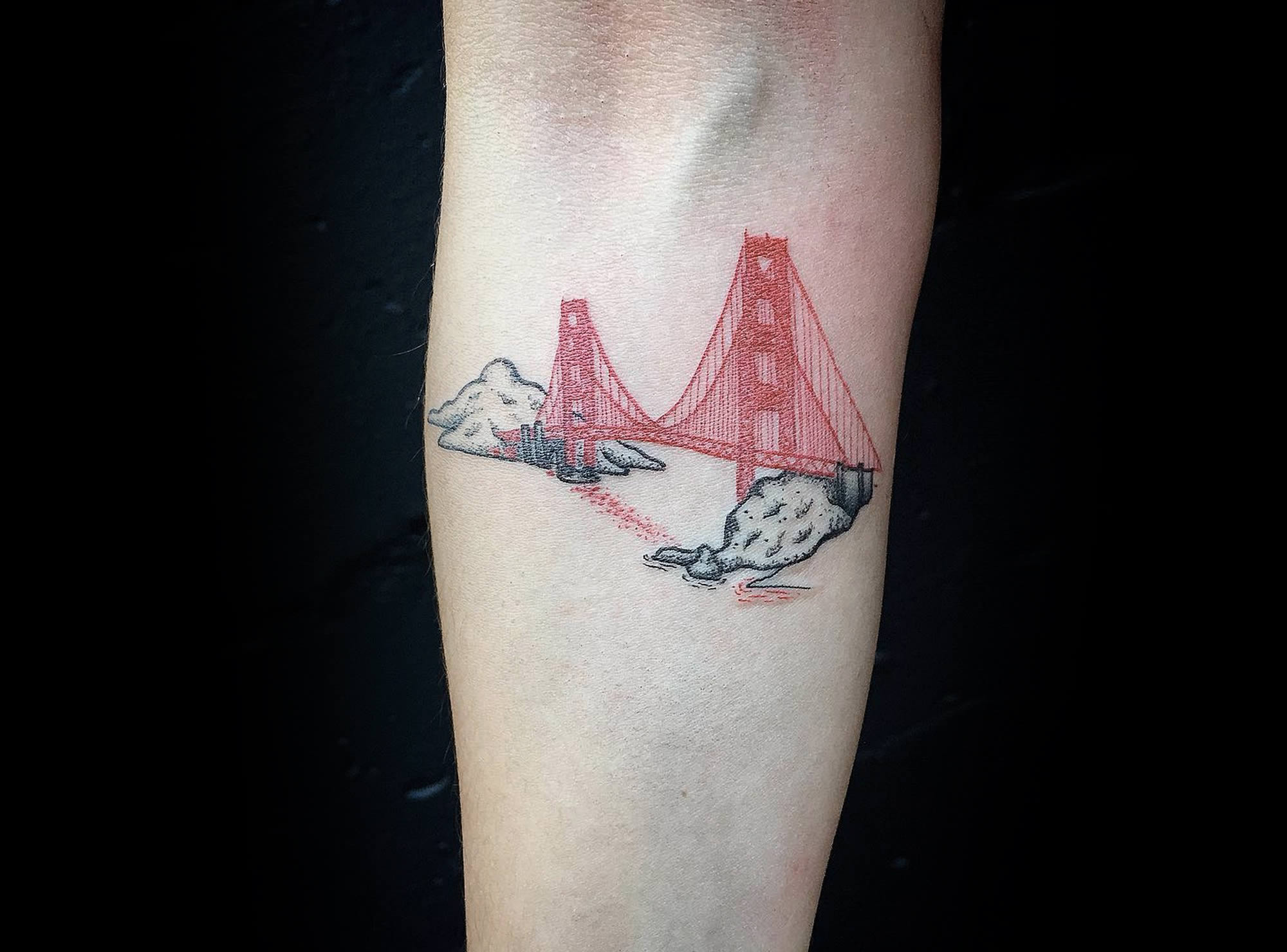 sf bridge tattoo by gaspard cresp