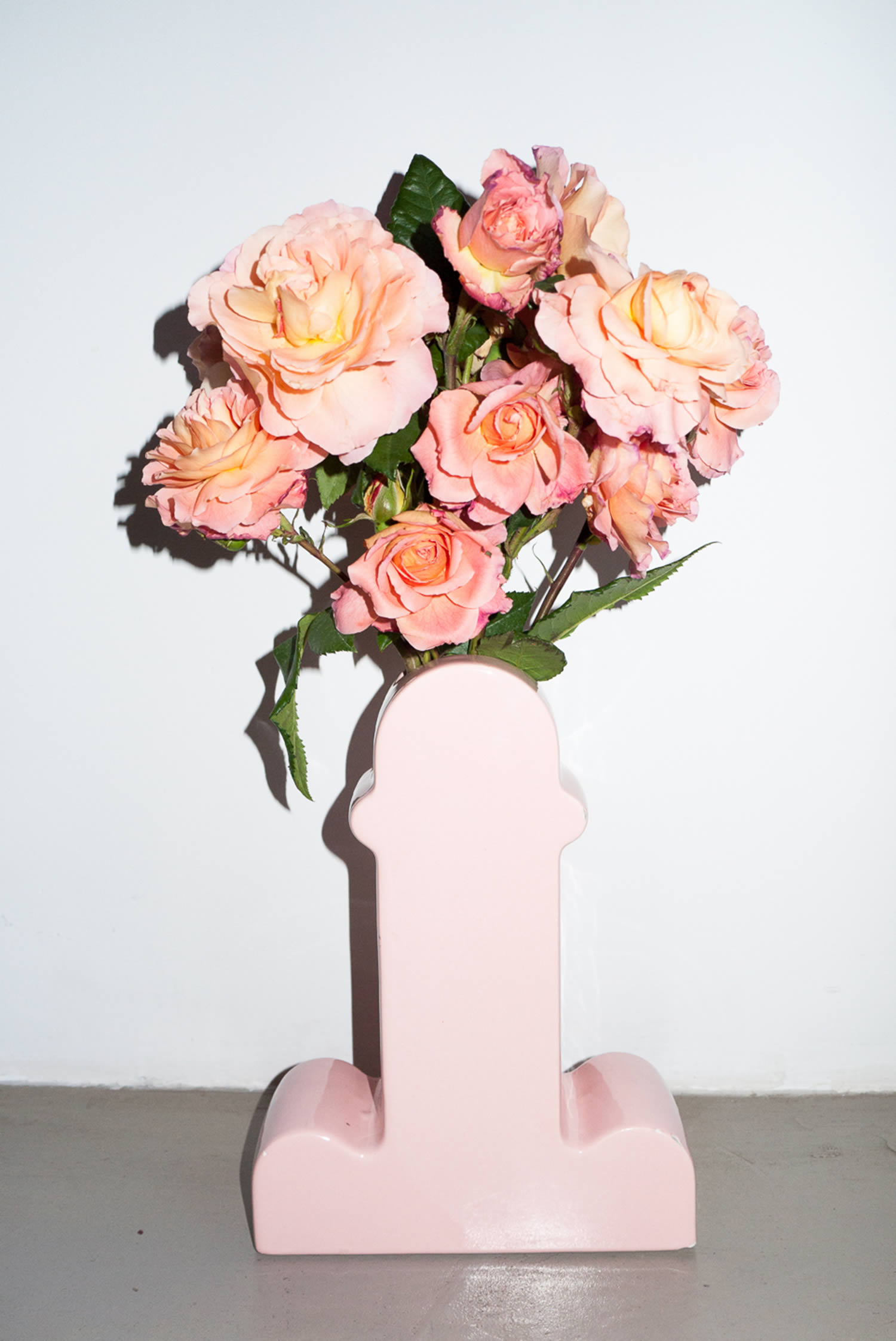 sottass vase with flowers