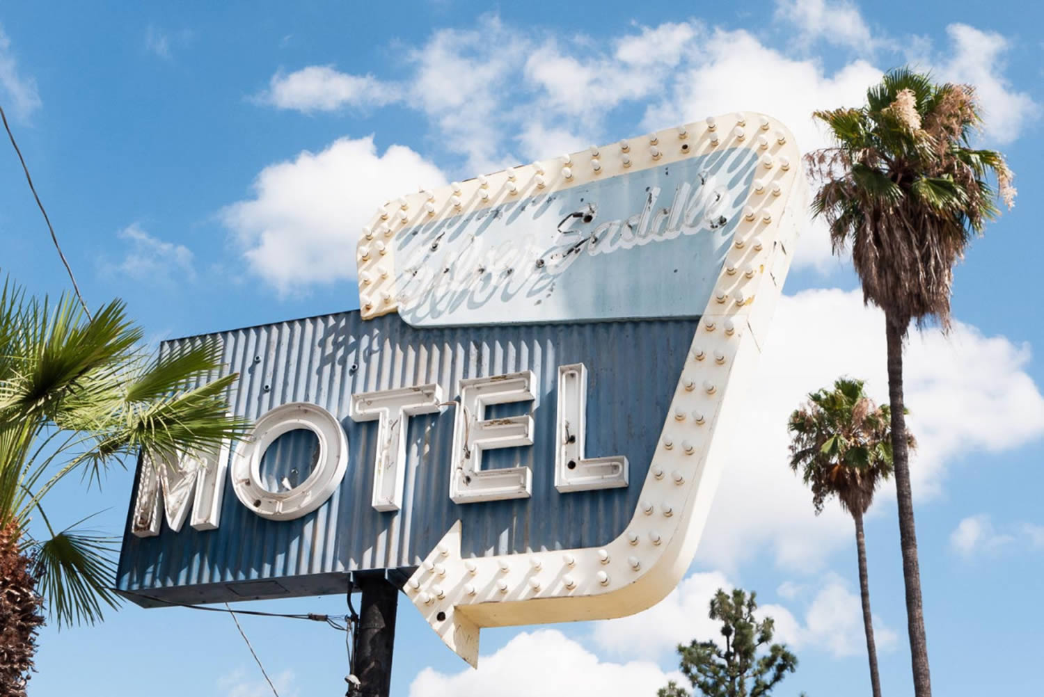 motel sign, california