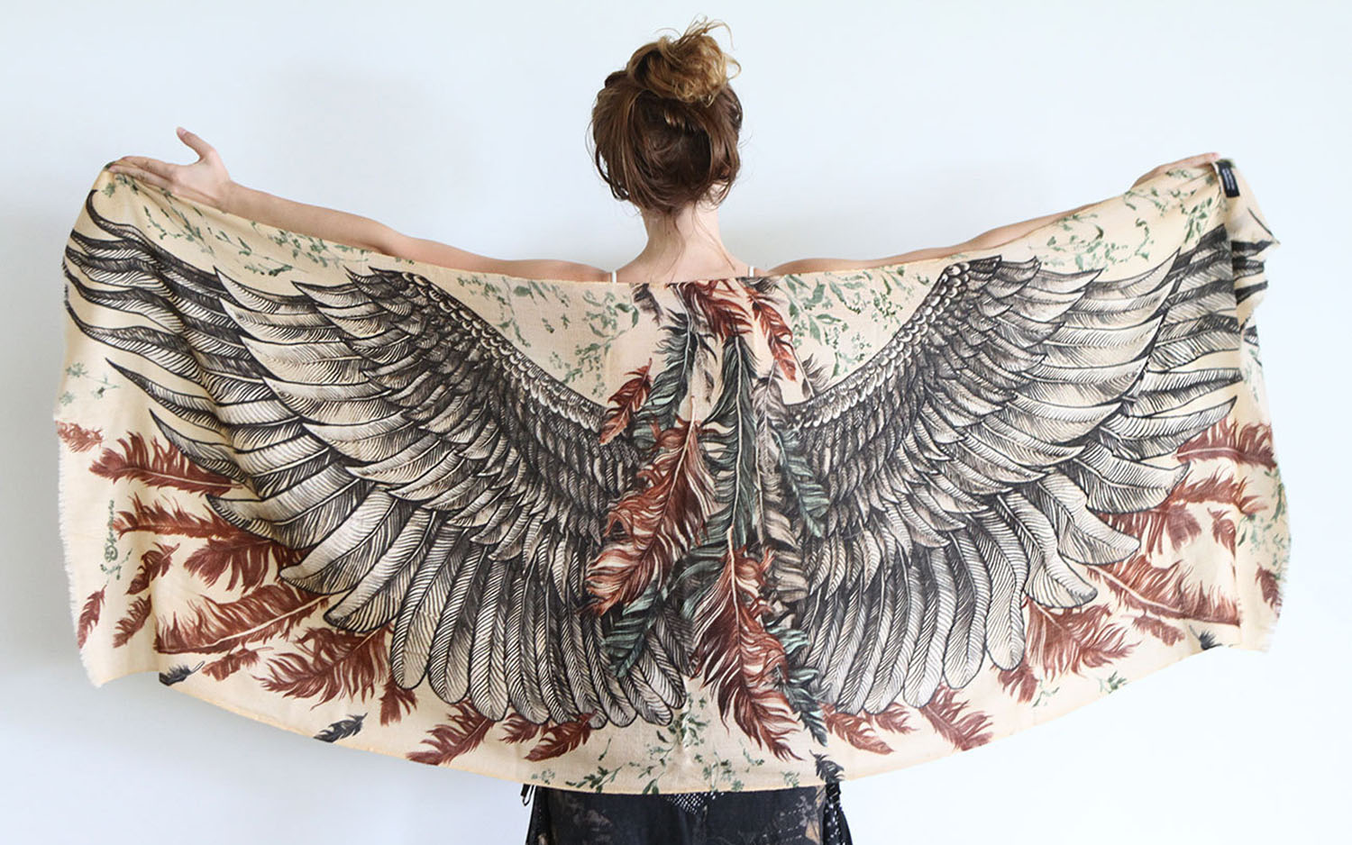 Wing shawl scarf by Shovava