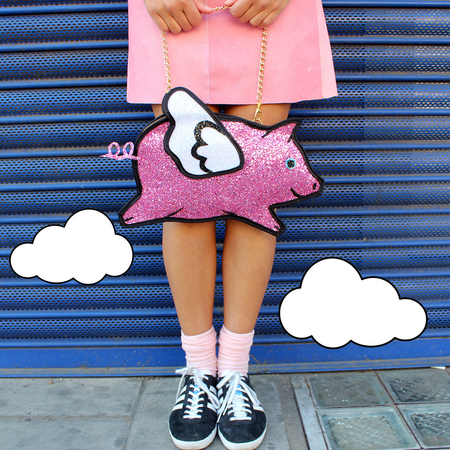 Luna on the Moon pigs fly purse