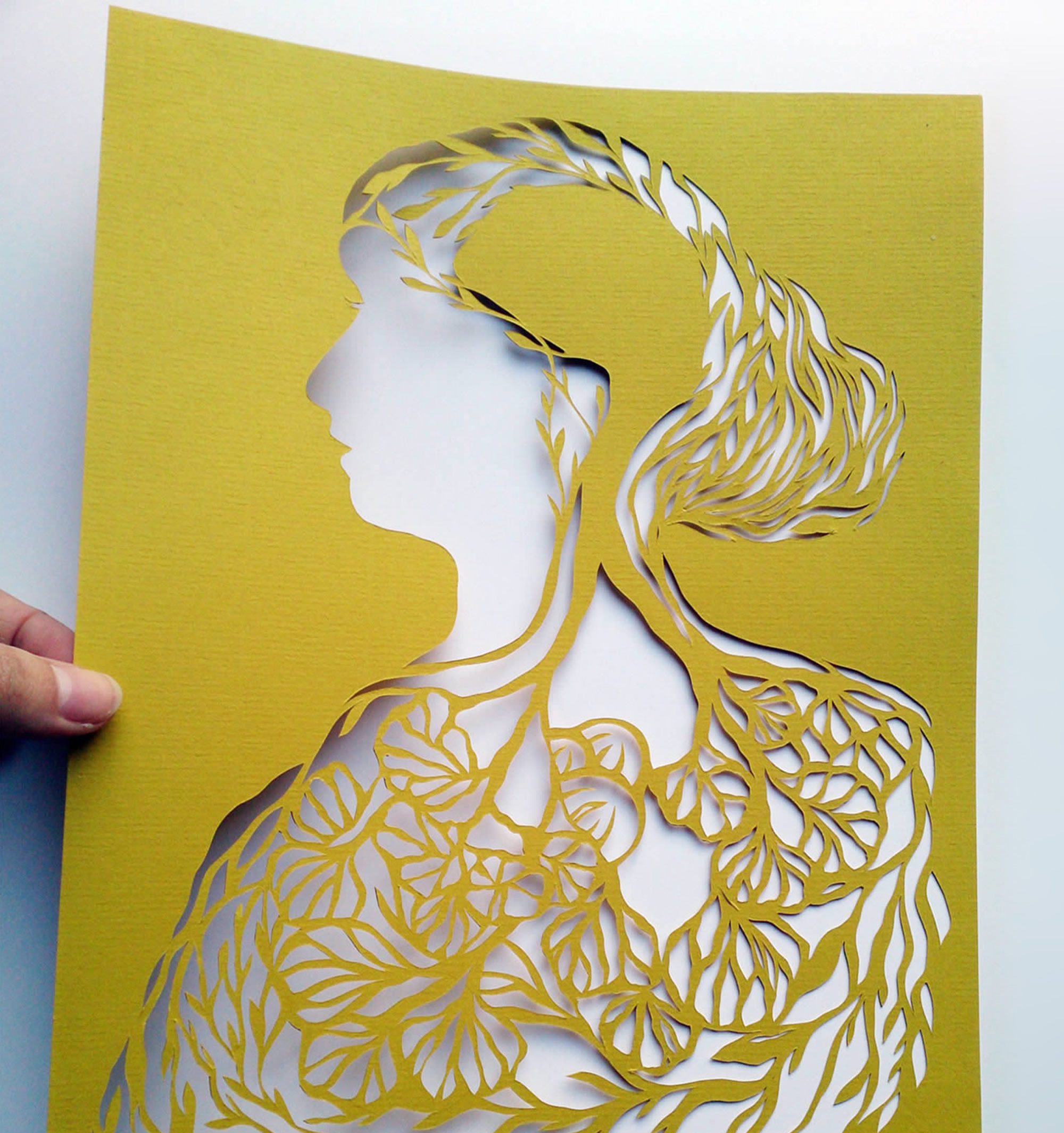 Intricate Cut Paper Portraits Tell Curious Stories