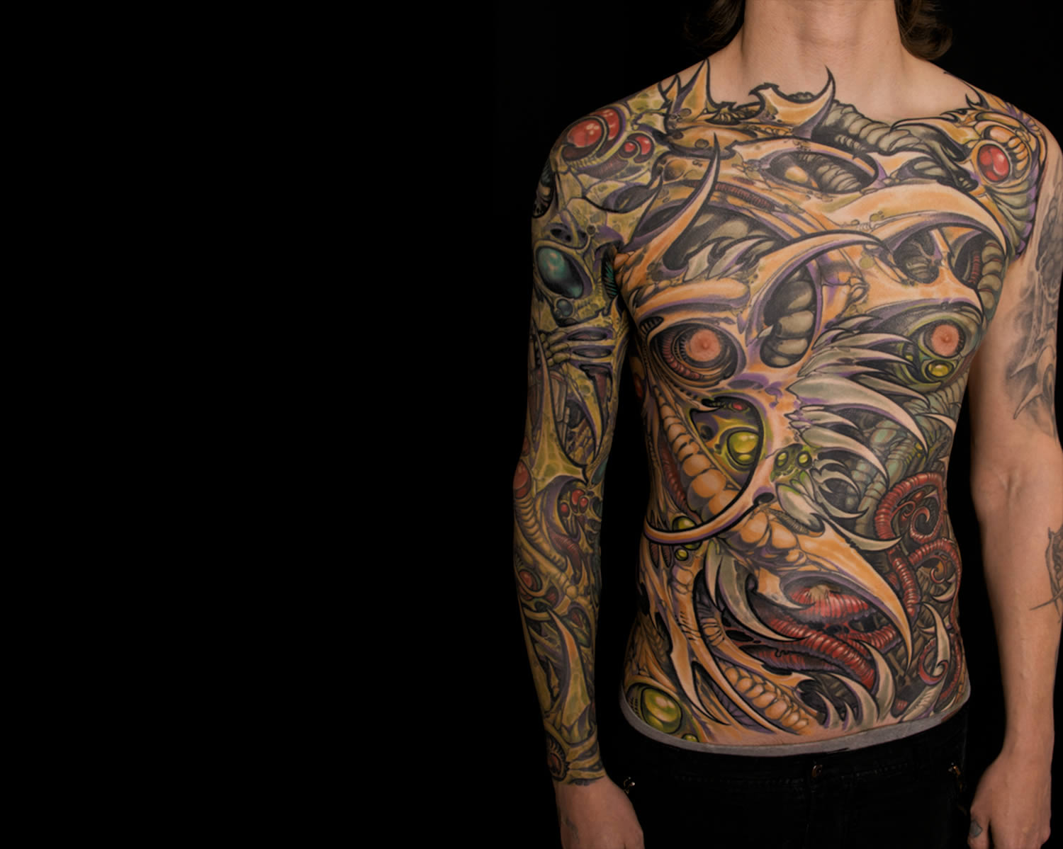 biomech sleeve in blue by ron earhart