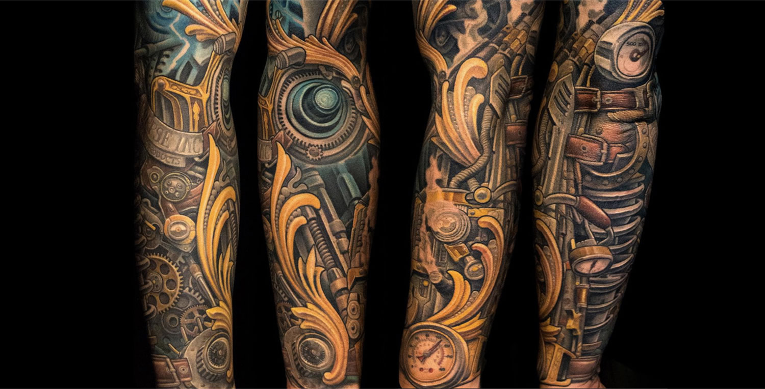 Biomechanik Tattoo Ganzer Arm biomechanical armor tattoo - best tattoo ideas