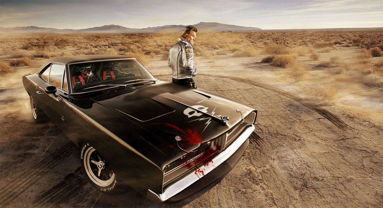 death proof car, cool car in black