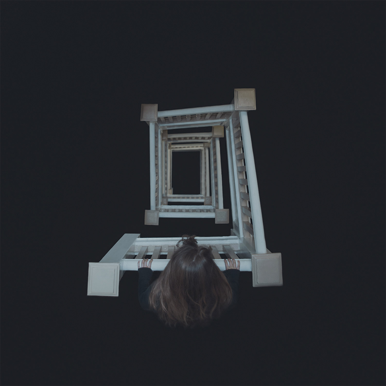 Gabriel Isak, In a Dream, spiralling staircase and darkness