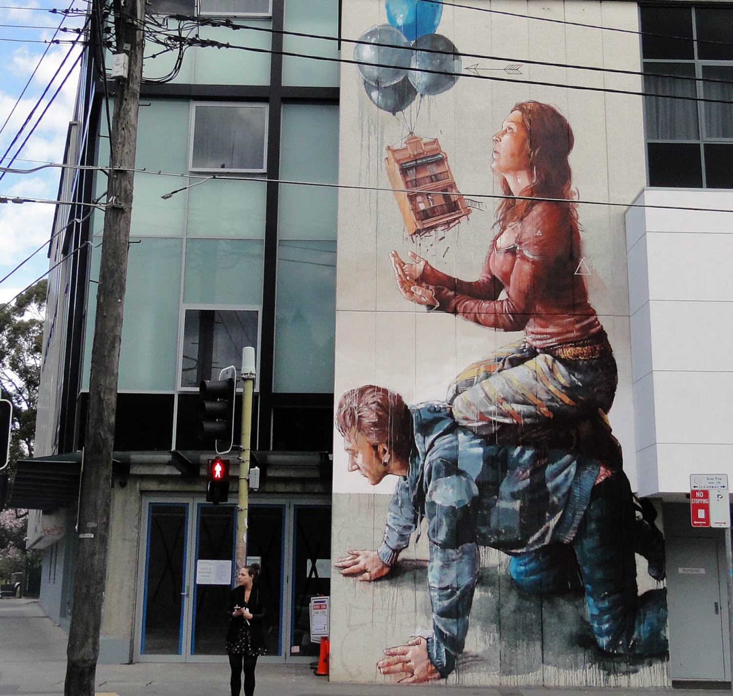 Fintan Magee housing bubble street art in Sydney