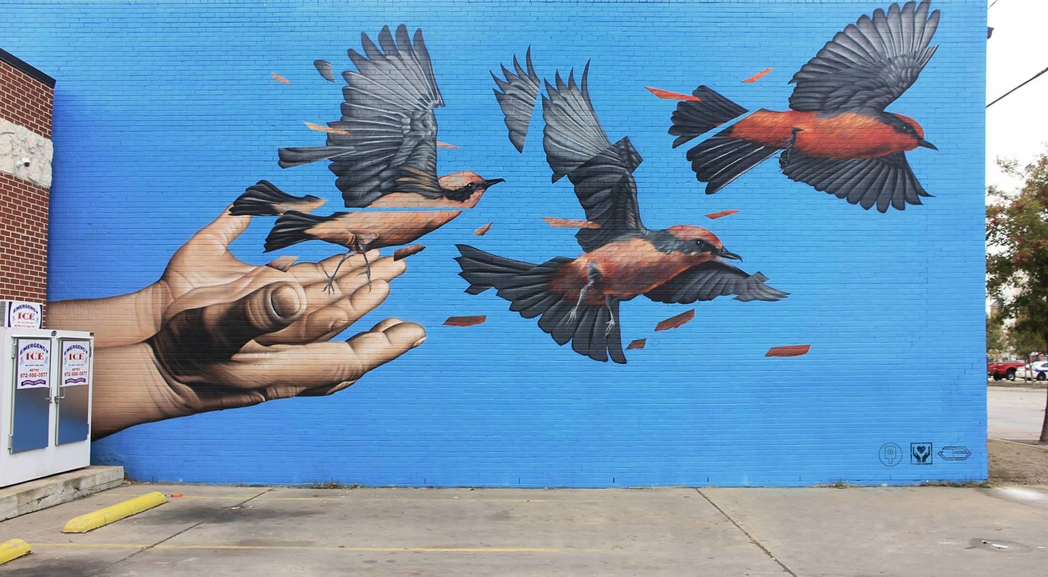 treet art of birds flying by james bullough