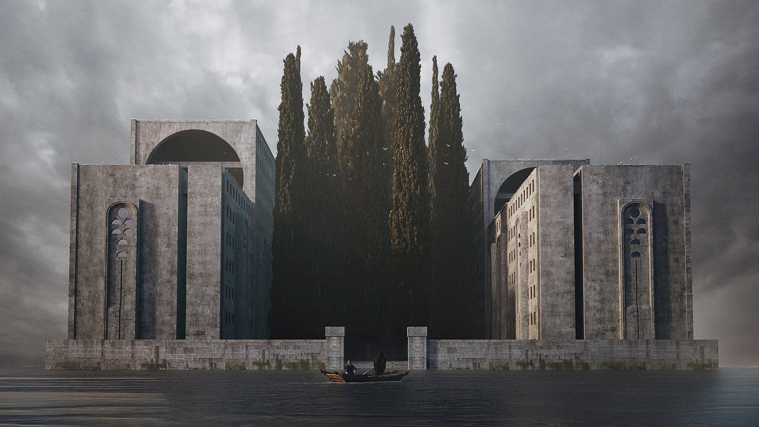 Jie Ma, Eclipse VII - Deep Reverence for Arnold Böcklin