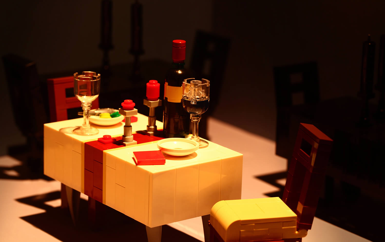 dinner party, lego