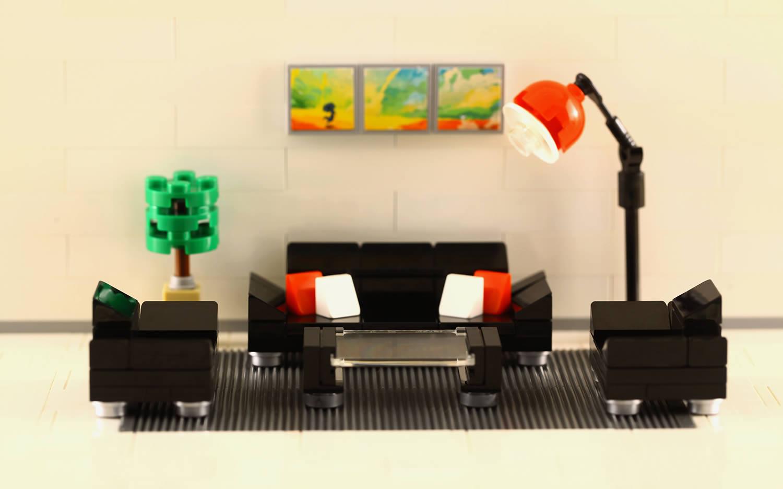 living room set, lego