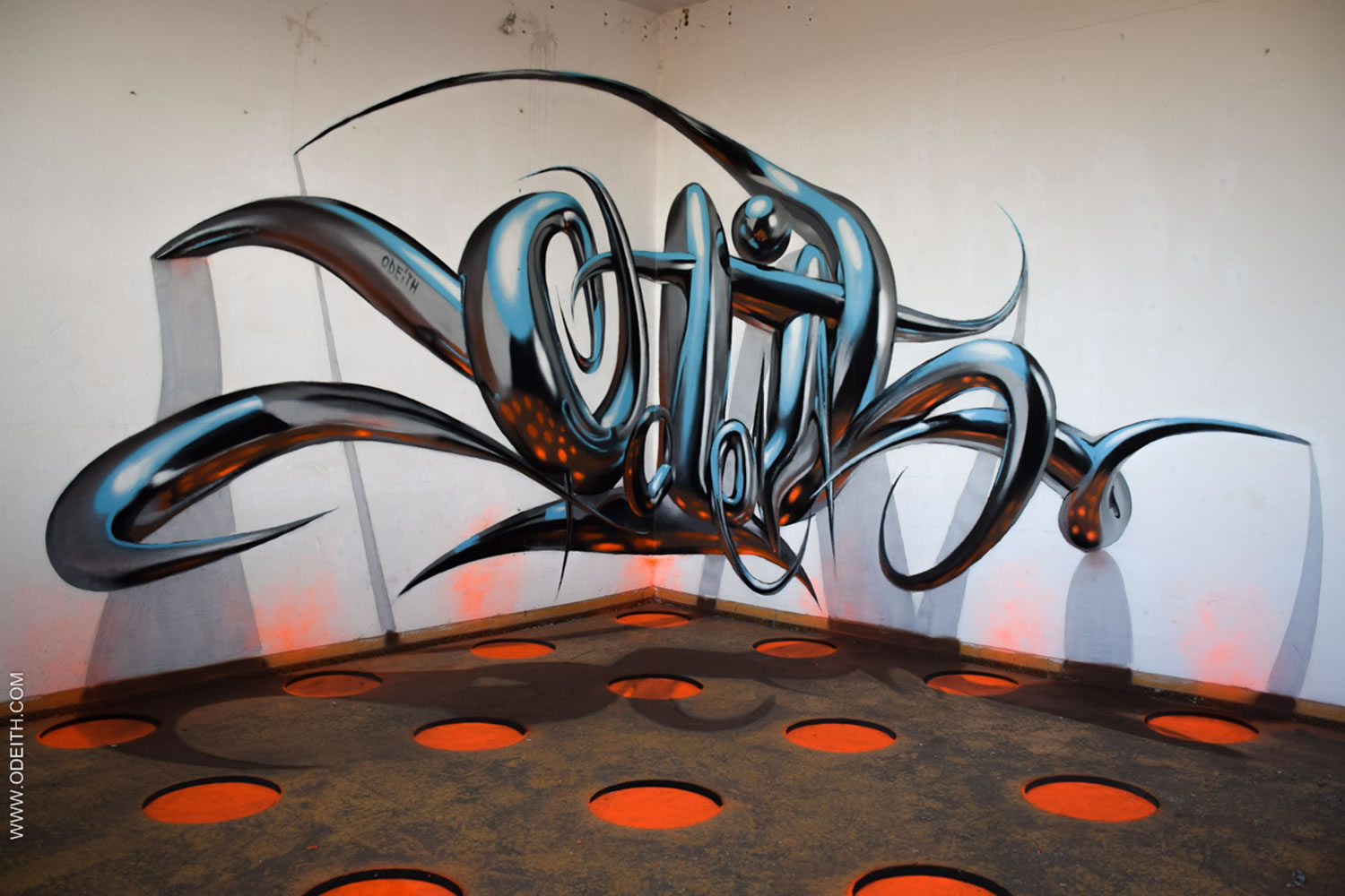 odeith 3d lettering on wall