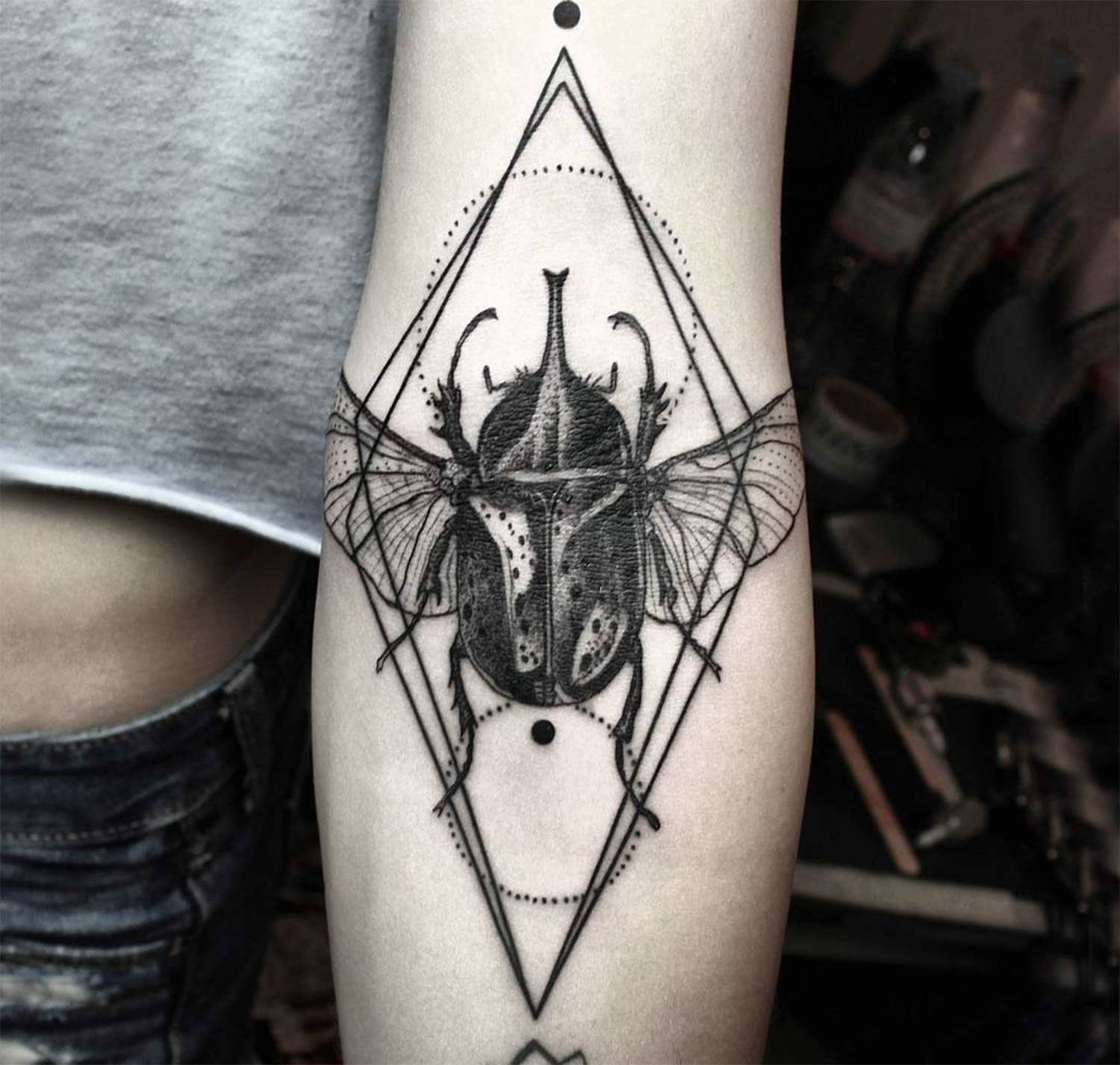 insect tattoo by okan uckun