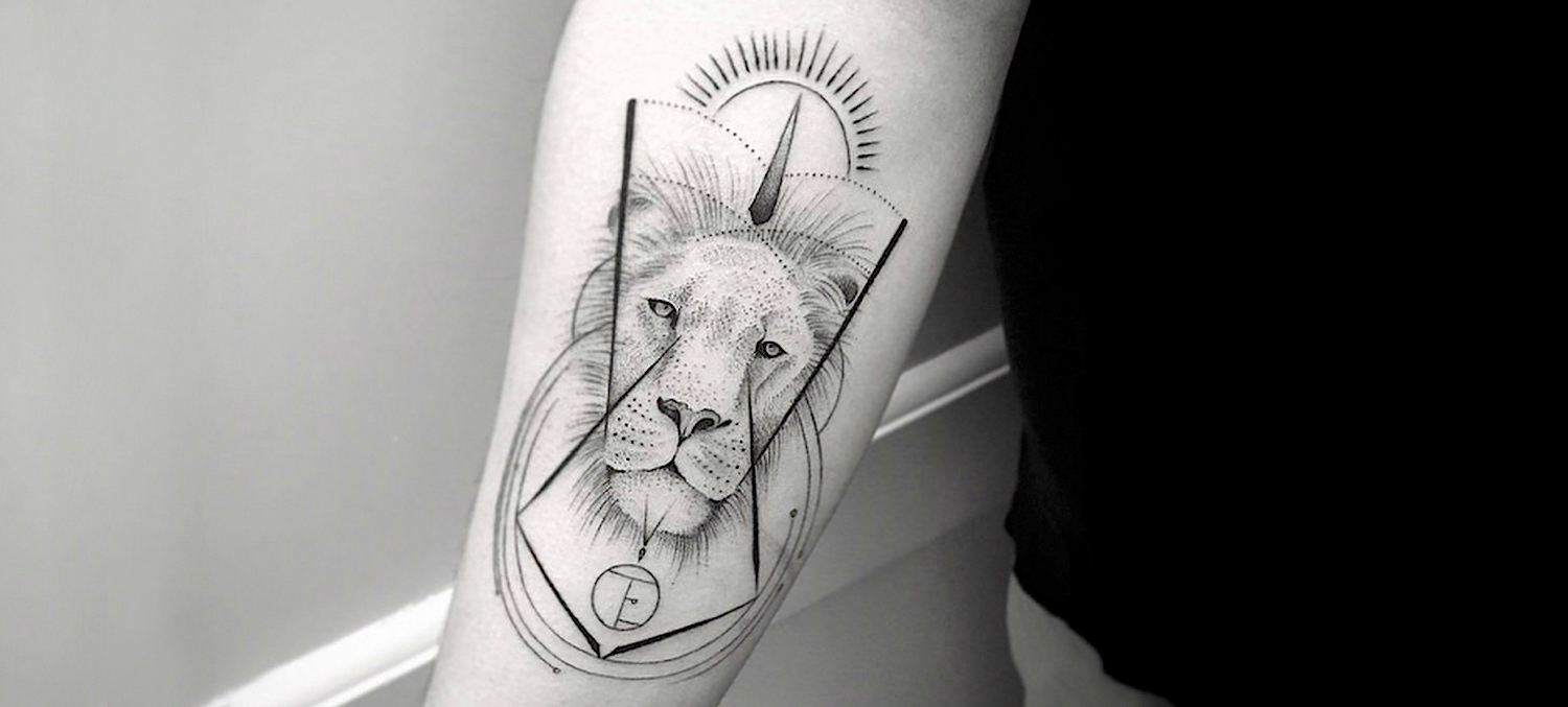 Lion tattoo by Balasz Bercsenyi.