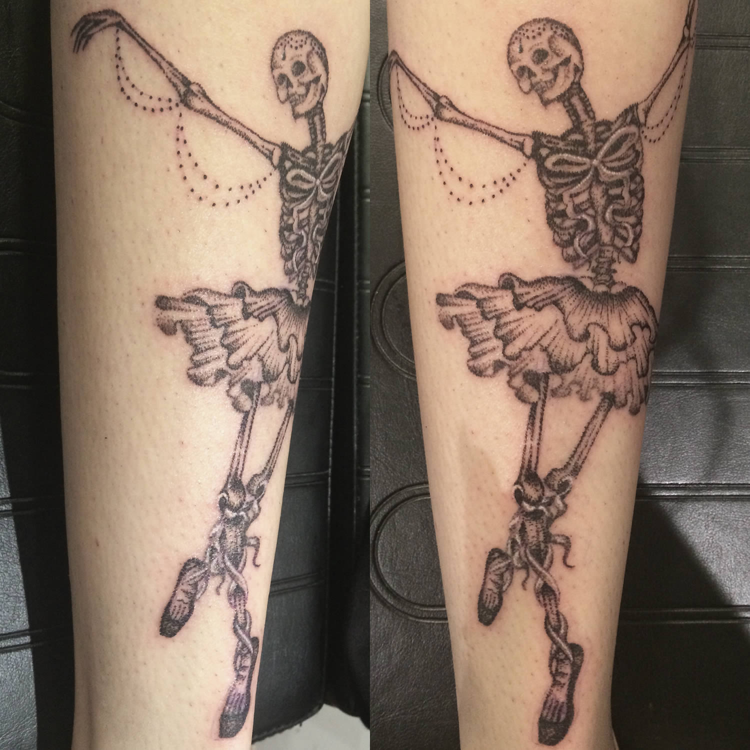 skeleton dance tattoo