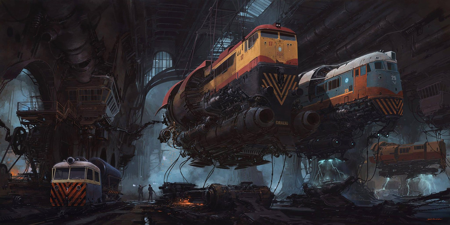 futuristic station by alejandro burdisio