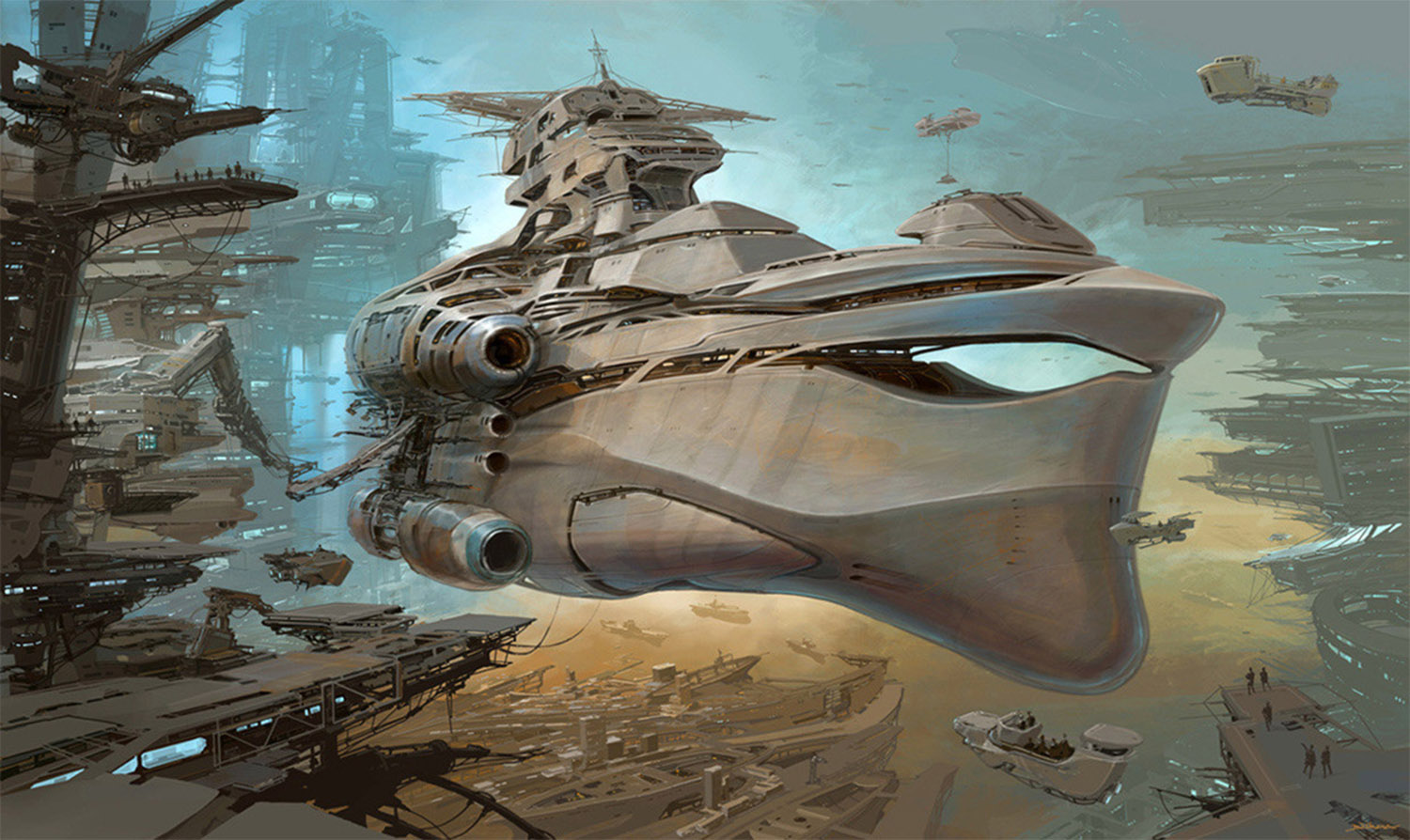 futuristic ship by alejandro burdisio