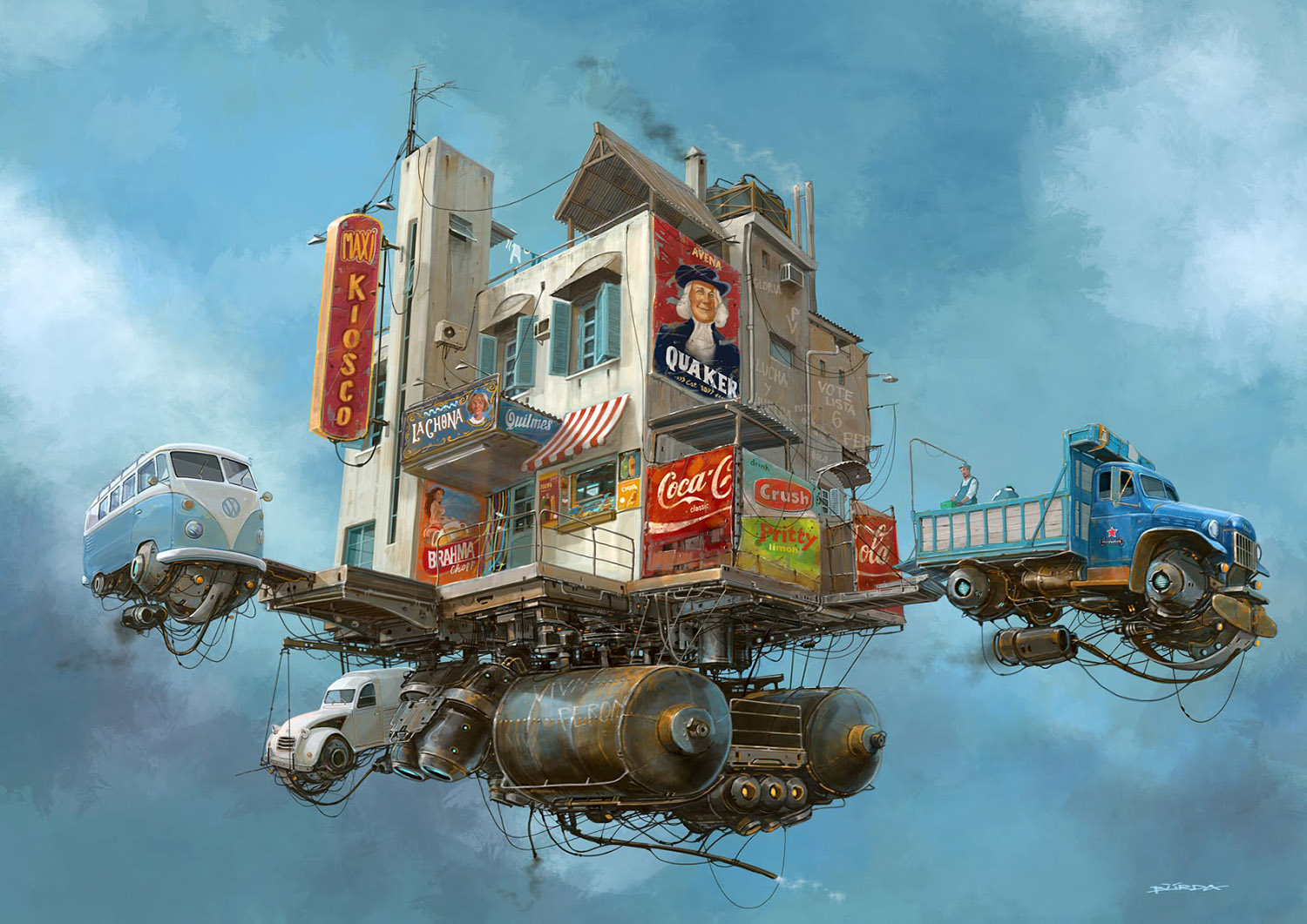 floating corner store by alejandro burdisio