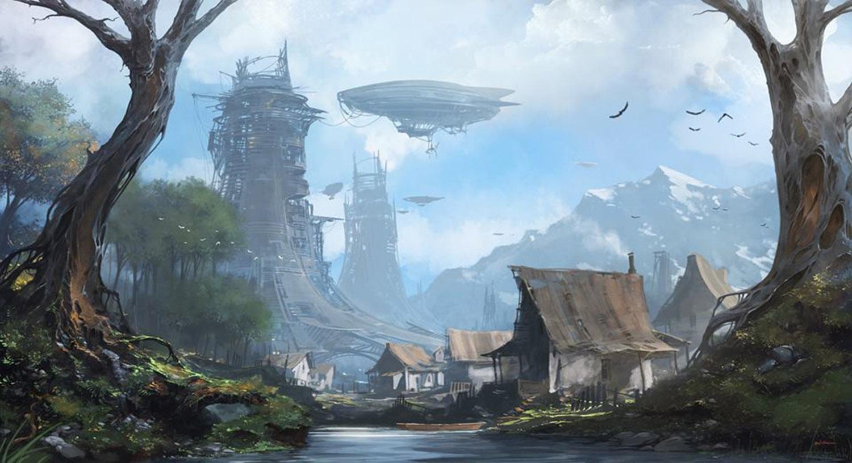 futuristic landscape by alejandro burdisio