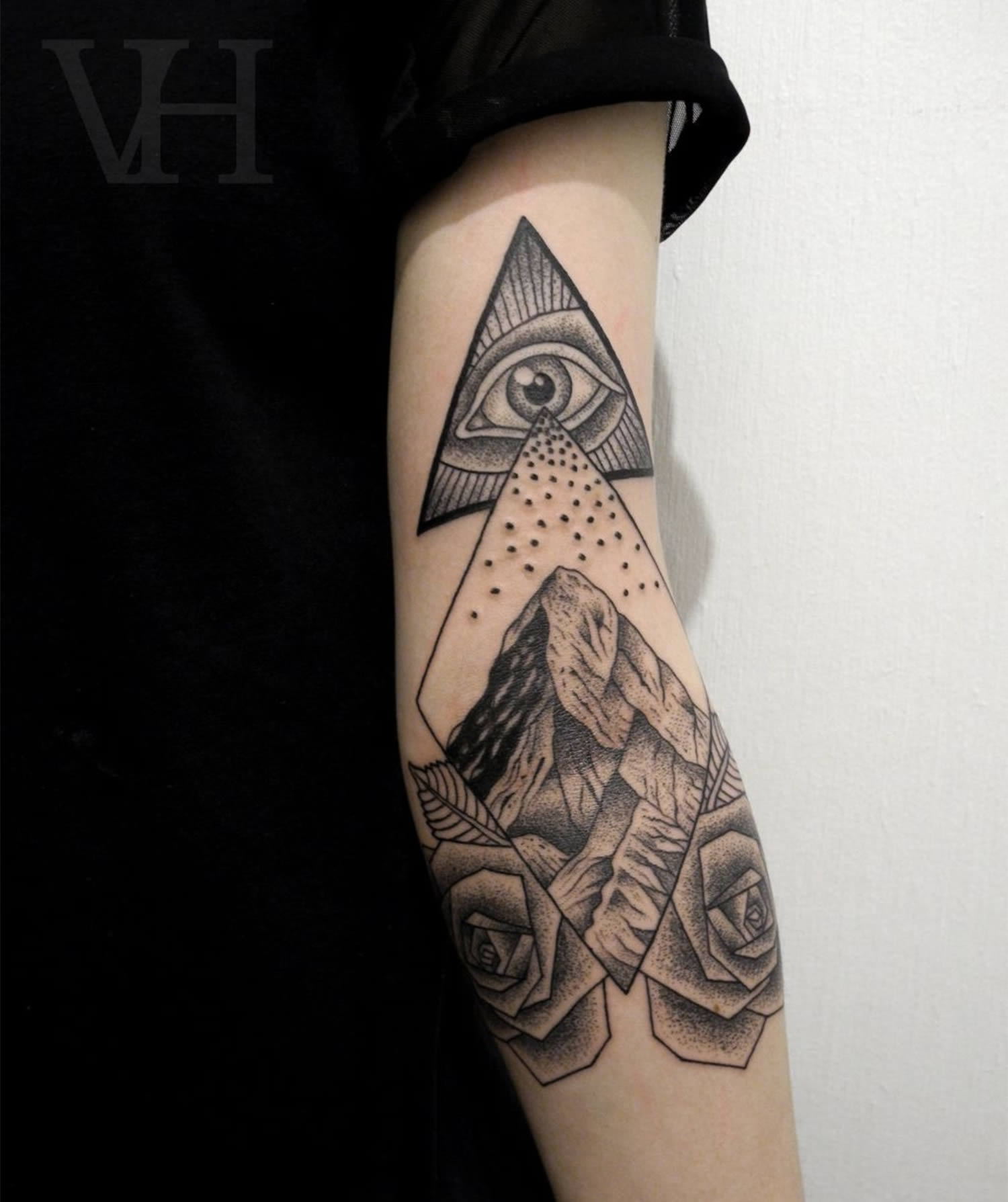 all-seeing eye tattoo sleeve by valentin hirsh