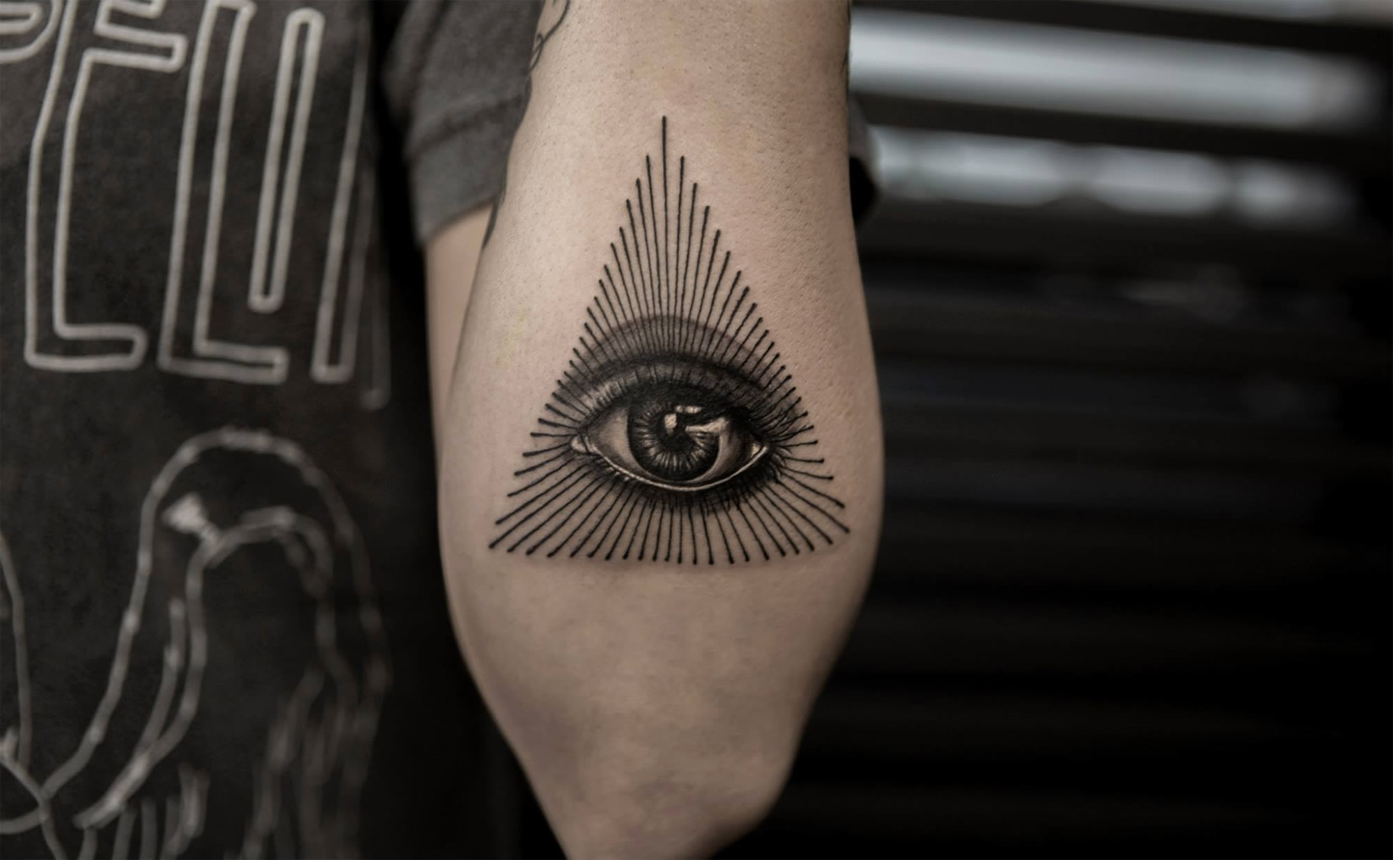 eye of providence, tattoo by bang bang