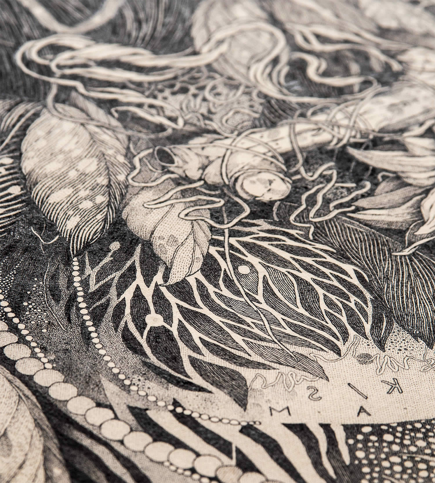 closeup of drawing by benze