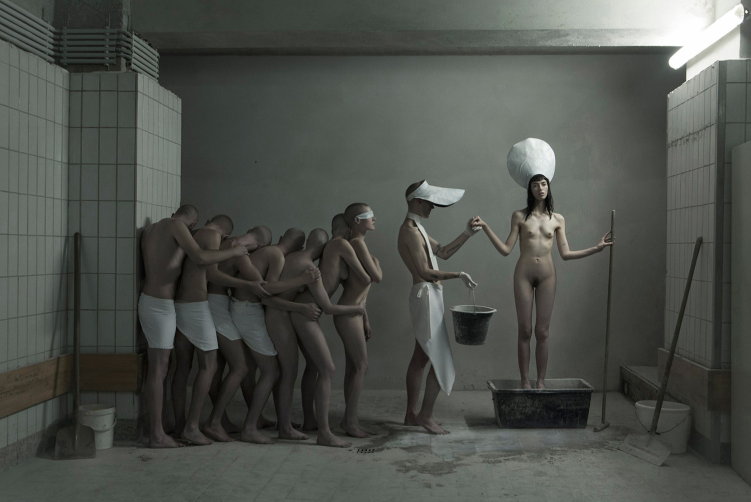 Evelyn Bencicova, Touch Me, I'm Sick, collaboration with UY, eerie nude lineup in hospital setting