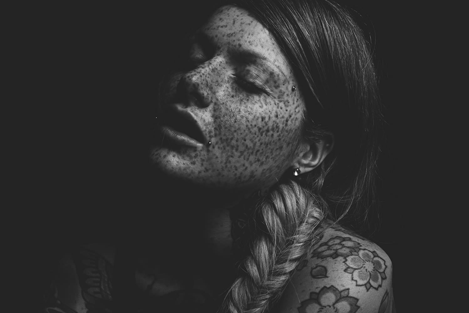 freckled face girl, photography