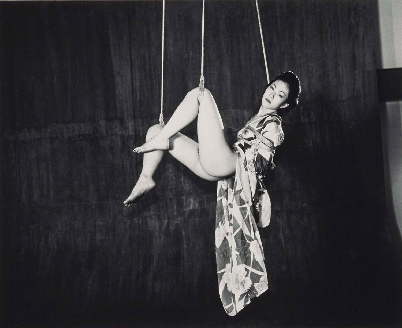 Nobuyoshi Araki, Kinbaku-bi, woman suspended in ropes