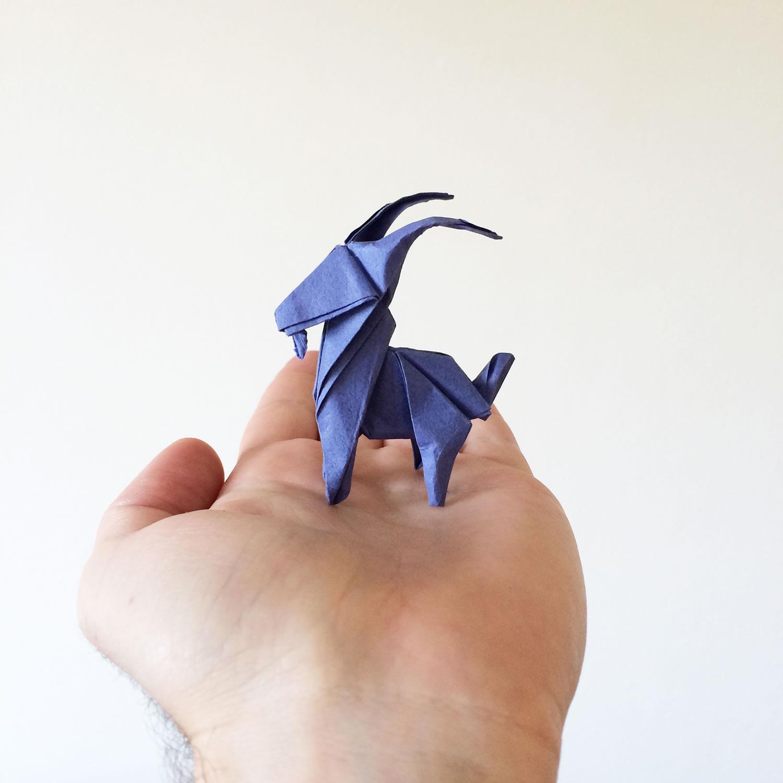 goat, origami