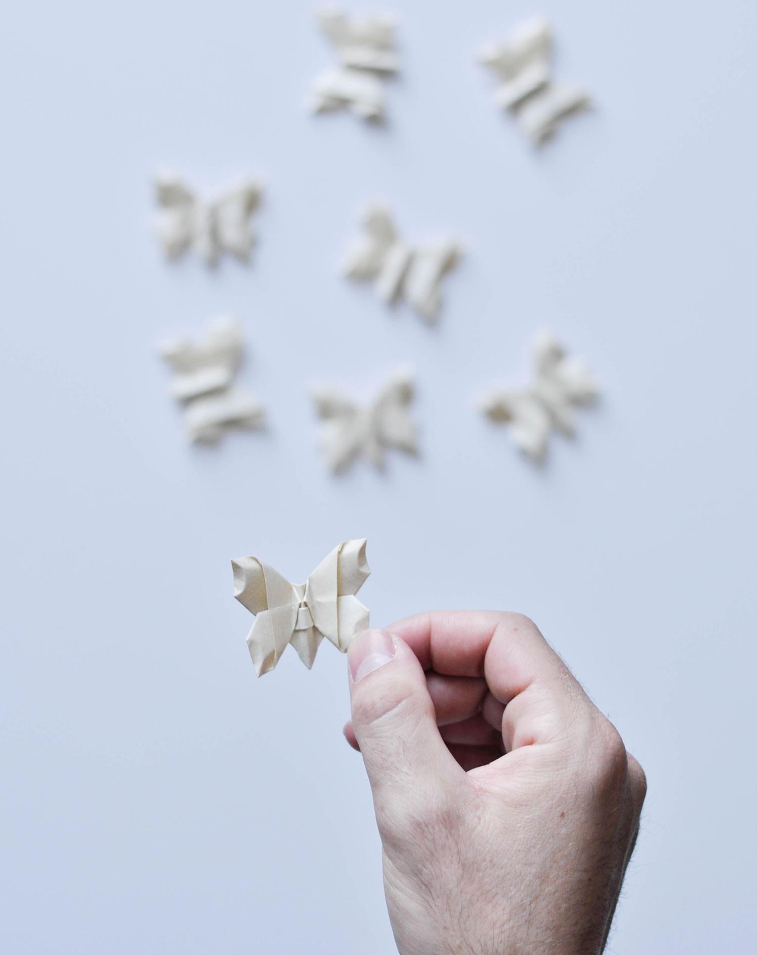 butterflies, origami
