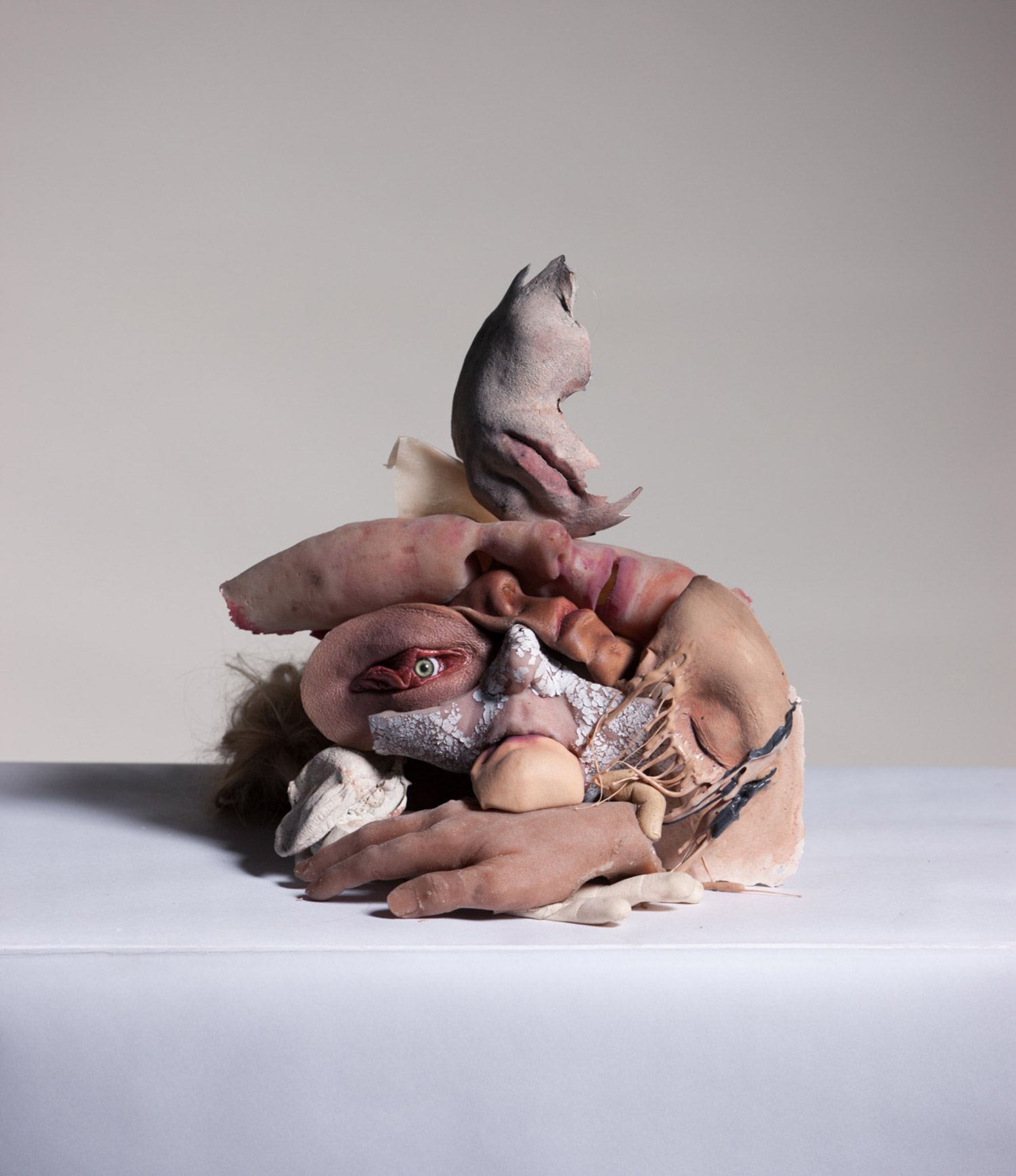 Sarah Sitkin, passive collaboration for Work Magazine, pile of human body parts