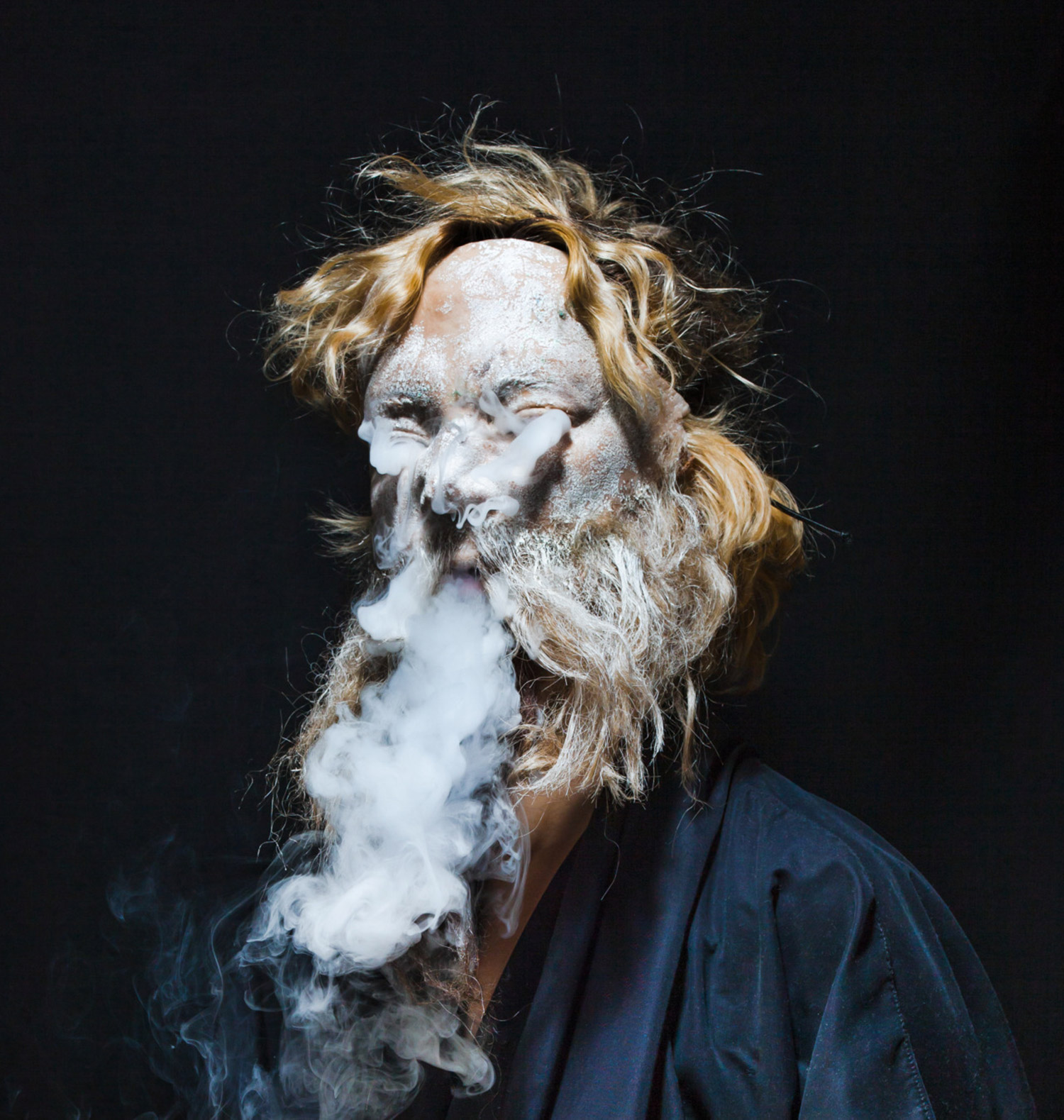 Sarah Sitkin, Jeffyboy, face crumbling into smoke