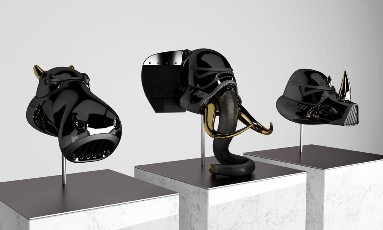 all three helmets in black, new order