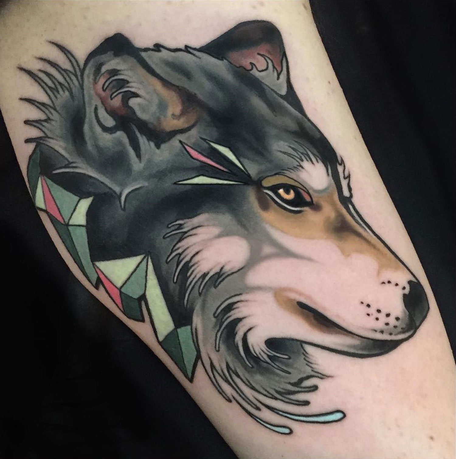 Wolf tattoo by brian povak