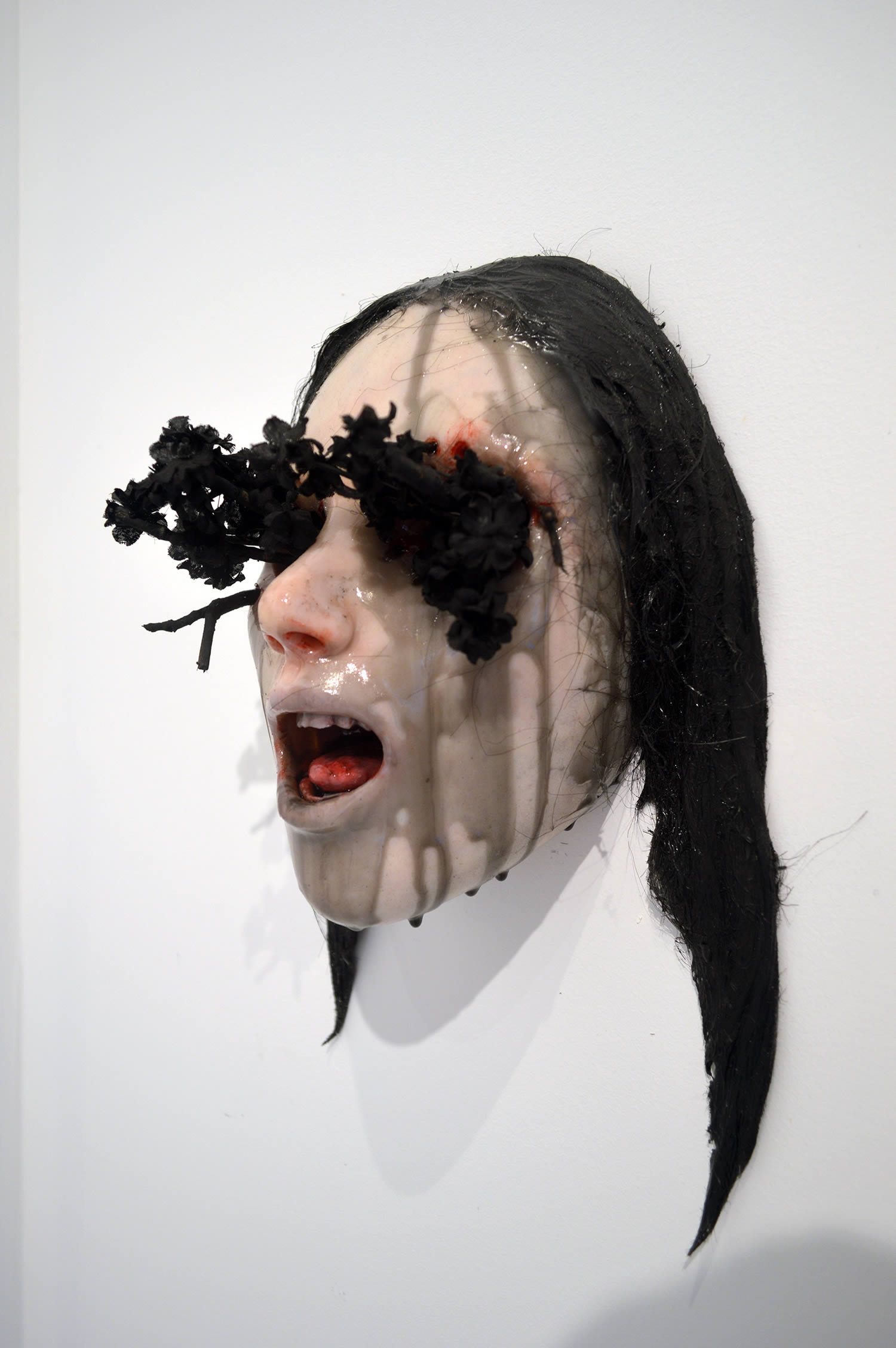 Colin Christian, Stricken - sculpted face with black branches coming out eye sockets
