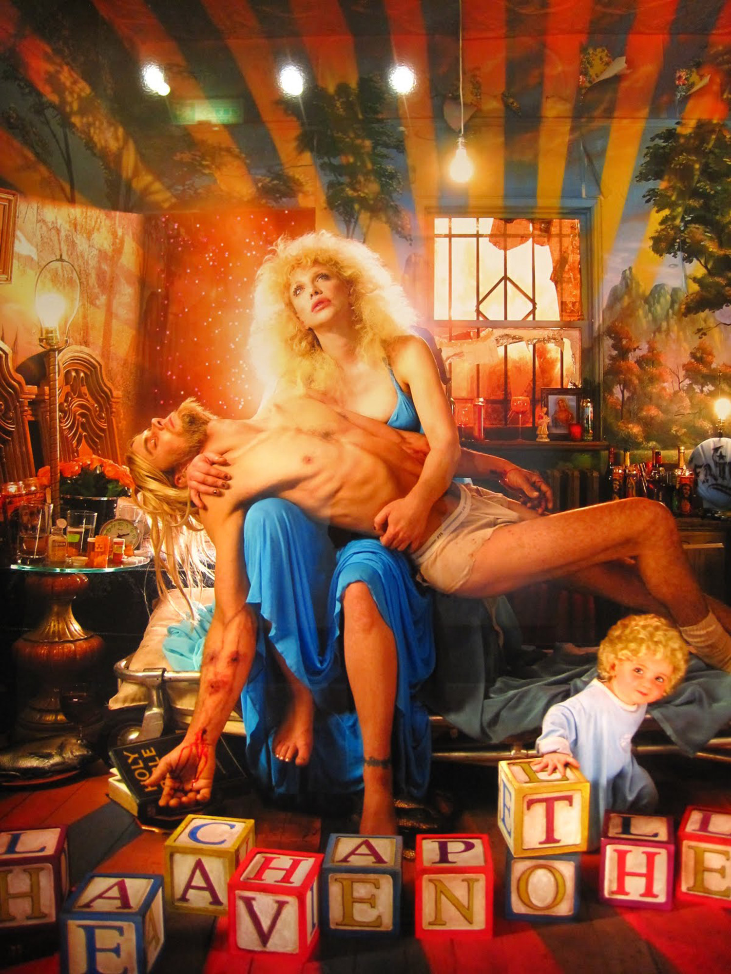 David Lachapelle - controversial image of Courtney Love as a Virgin Mary-type figure