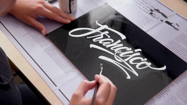 francisco, lettering