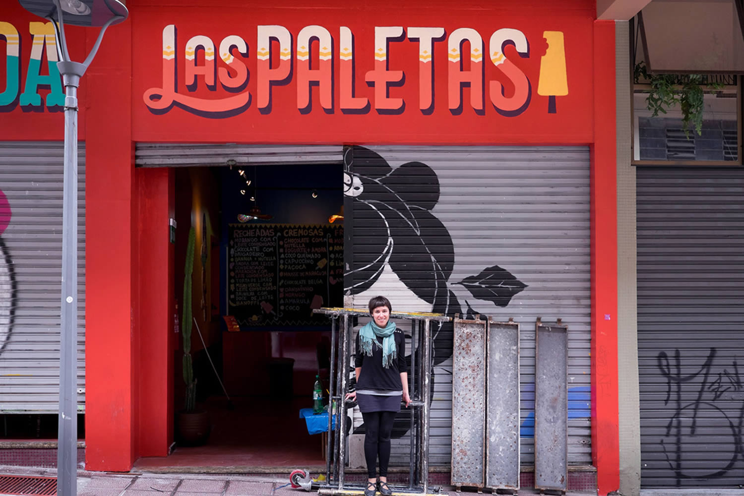 las paletas, store sign