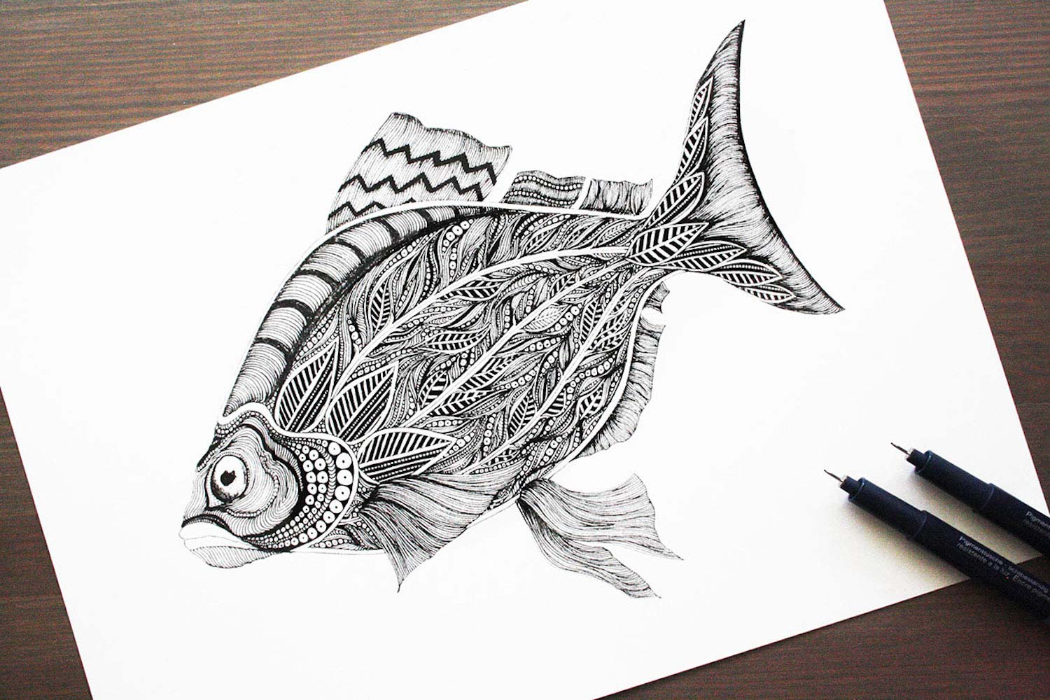 Ornamental Fish by Meni Chatzipanagiotou