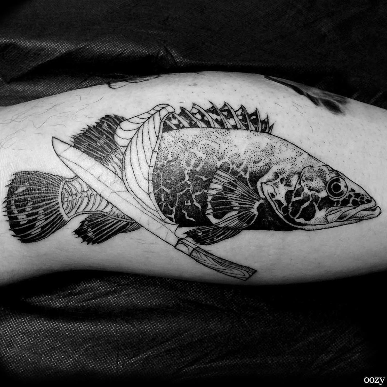 Black line tattoos by Oozy