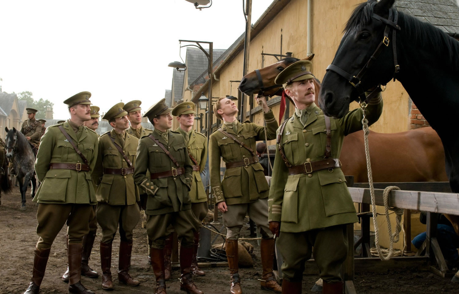 soldiers with horse, war horse movie