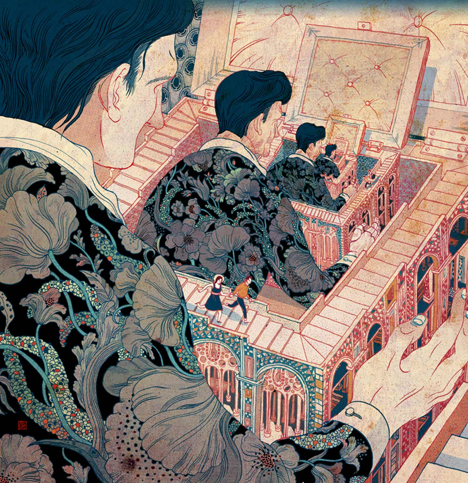 elaborate illustration, Victo Ngai has lived in five different countries, all of which influence her illustrative style.